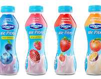 Danone's yogurts packaging design