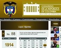 Congreso de la Rep. - Web