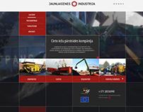 Jaunceltnes Industrija web-site