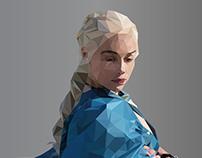Polygon Illustration Art | Emilia Clarke