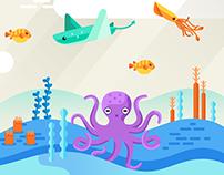 Ocean Theme Illustration