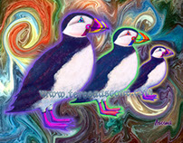 Creatures of the WIld - Purple Puffins