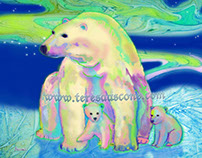 Creatures of the Wild - Polar Bear Aurora