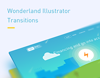 Wonderland Illustrator Transitions