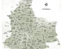 Natural Map of Colombia