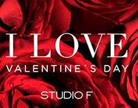 I love valentine´s day // campaign (landing page)
