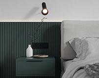Minimalistic Bedroom Visualization