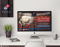 Web design, Proyect Domino´s Pizza Crea tu propia pizza