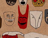 Mexican Dance Masks