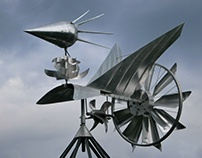 Wind Powered Kinetic Sculpture    [video]