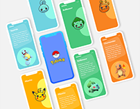Pokemon Card App design concept