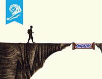 Snickers I Traps Print Ads