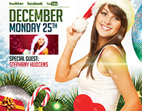 FREE Xmas Party | Flyer + Facebook Timeline Cover