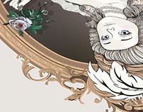 Marie-Antoinette dit à la Rose - Illustration