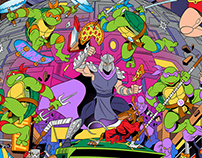 TEENAGE MUTANT NINJA TURTLES 80's TV CARTOON