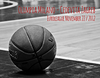 Basketball in action (Black'n'White)