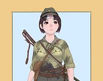 機関短銃娘/Sub machine gun girl.