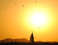 sunset in Marrakech