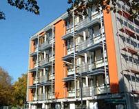 Umbau, Aufstockung, Neubau  Altenwohnheim Frankfurt