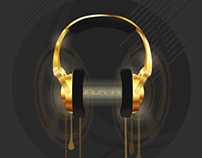 Golden Headphones - Personal Project