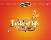 McVitie's Website UI