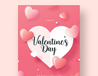 Valentines Day Flyer Template - Photoshop Files