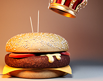 // The King of Burgers // CGI
