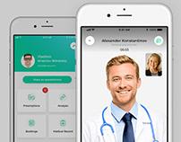 Mobile app, online medical services