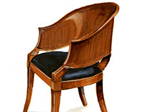 Marker Drawing: Biedermeier Chair