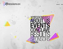 XIMB Xpressions | cultural fest webdesign