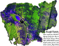 Beautiful Cambodia National Radar Satellite Mosaics