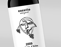 Ceretto - wine labels