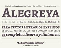 Espécimen / Alegreya