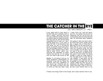 The Catcher In the Rye Book Page Design