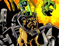 Doktor Steampug vs. Gorillizard