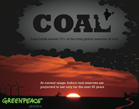 Info graphic / Coal/  Greenpeace