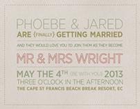 Mr & Mrs Wright Wedding Design