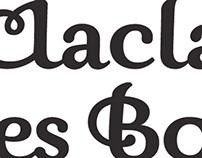 Lettering / lettrage Clacla des Bois