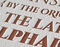 Cinzel Type Letterpress