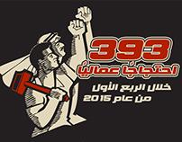 393 احتجاجاً عمالياً خلال الربع الاول من 2015