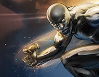 Silver Surfer - The Herald. Digital Painting