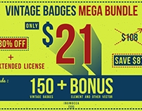 Vintage Badges Mega Bundle