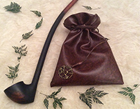 Aiwendil Leather Pipe-weed Pouch (Chestnut Brown)