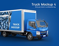 Mitsubishi Fuso Truck Mockup