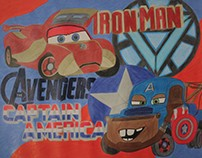 Cars Avengers Crossover Dragon - McQueen and Mater