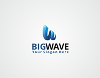 W Letter Logo   Big Wave   Logo Template [FOR SALE]