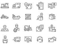 Logistic Vector Icons