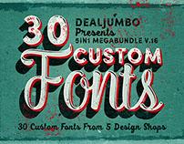 30 Creative Custom Fonts