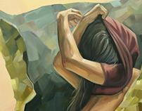 Chica Caramelo. Oil con canvas. 100x81cm