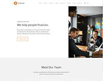 About People Page - Financial WordPress Theme